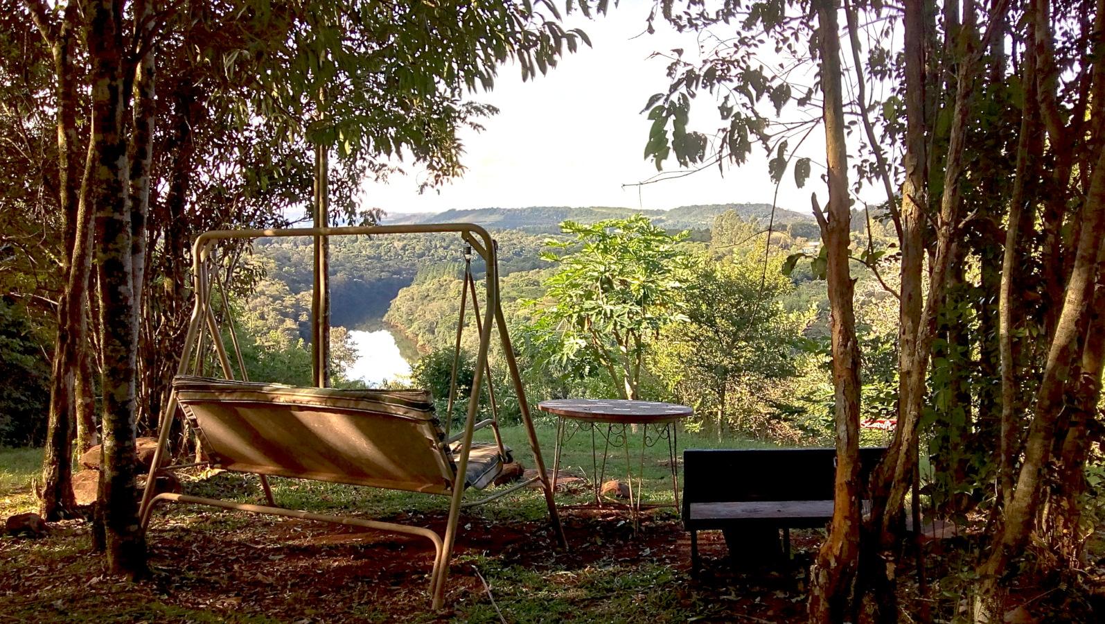 Vista al arroyo Soberbio, cabañas Buena Vista, moconá, Misiones